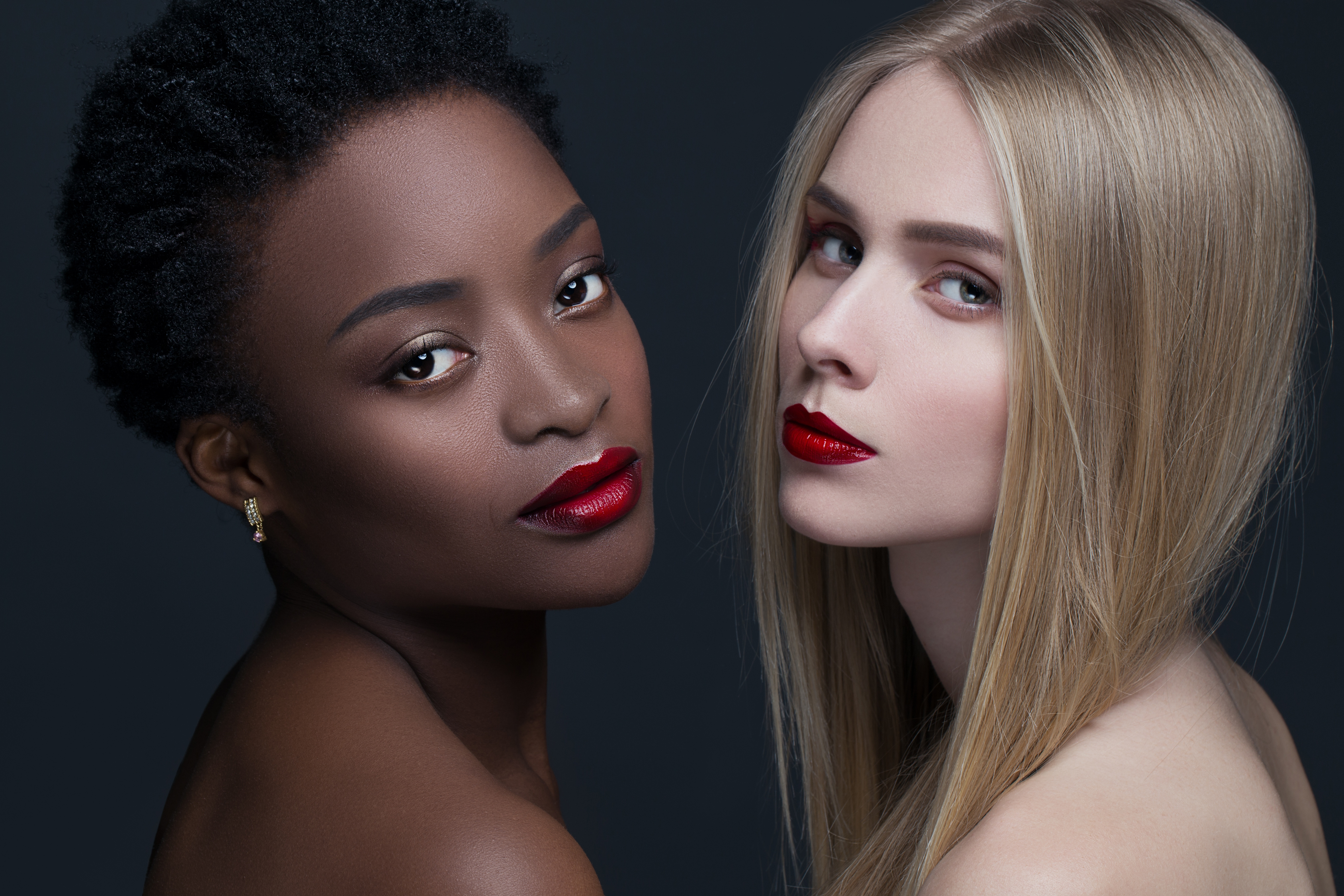 Winter 2018 cosmetics bold red lips with nude complexions BeautyandHairdressing